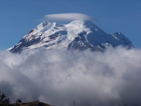 Photo of the volcan Antisana taken on a beautiful August day.
