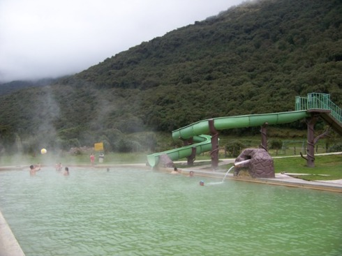 Termales Jamanco has several different size thermal pools and spas.