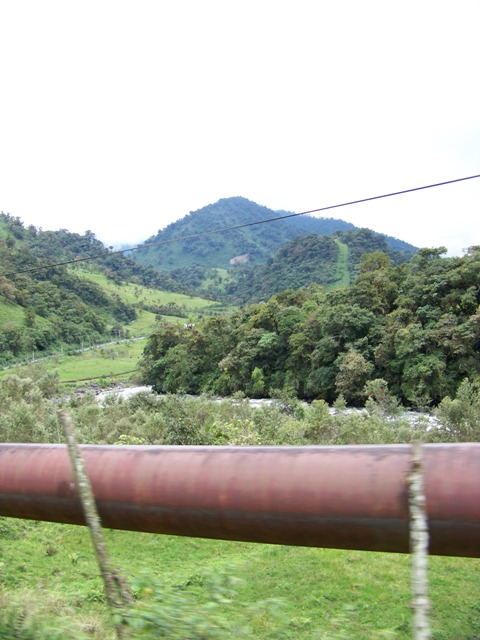 Oil pipeline that runs from the Amazon oil field to a refinery on Ecuador's Pacific coast.